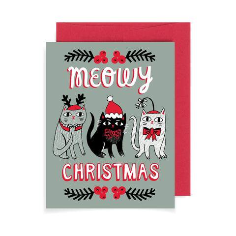 Meowy Christmas Cats A2 Card