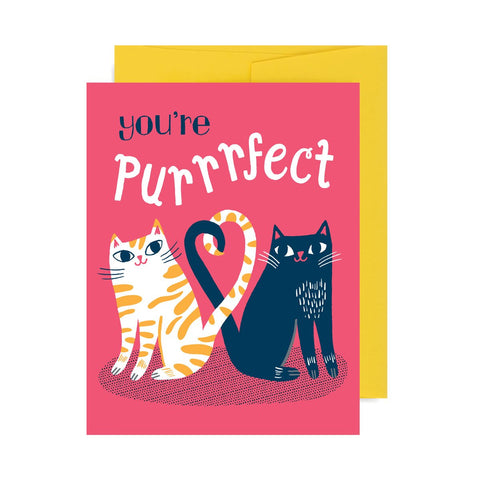 You're Purrrfect Cats A2 Card