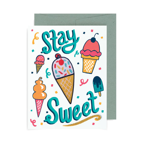 Stay Sweet Ice Cream Patch Card