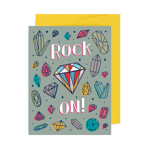 Rock On Diamond Patch Card