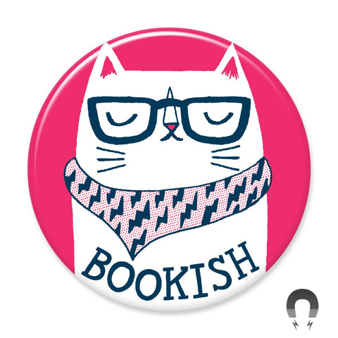 Bookish Cat Magnet
