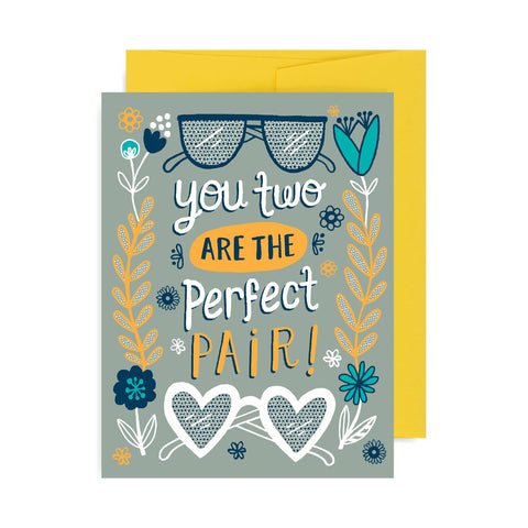 Perfect Pair Glasses A2 Card