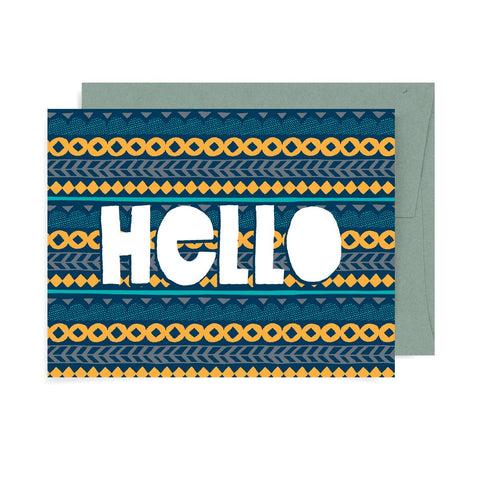 Hello Pattern A2 Card