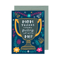 Mom Thanks Trophy A2 Card