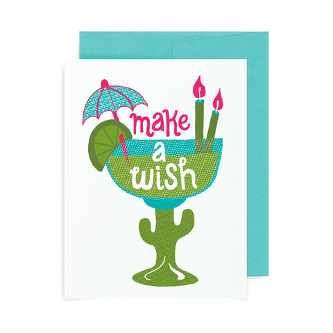 Make a Wish Margarita A2 Card