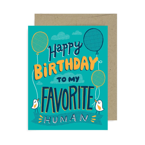 Happy Birthday Favorite Human A2 Card