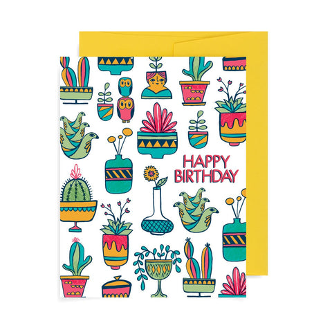 Happy Birthday Succulents A2 Card