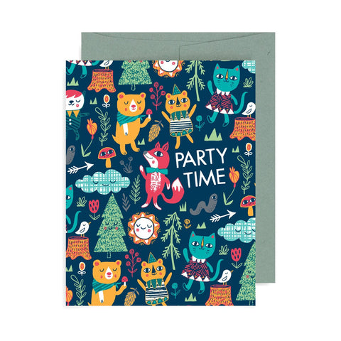 Party Time Animals A2 Card