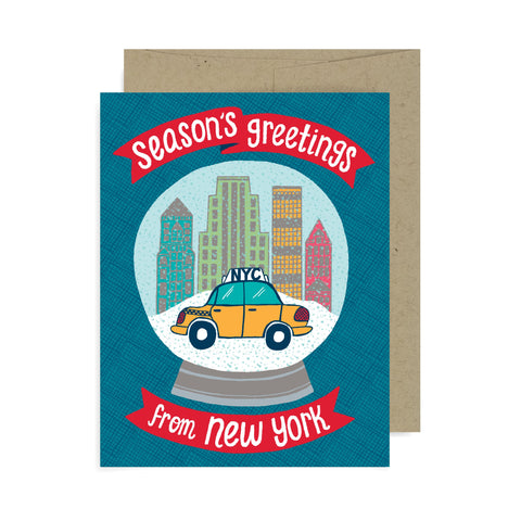 Snow Globe New York A2 Card