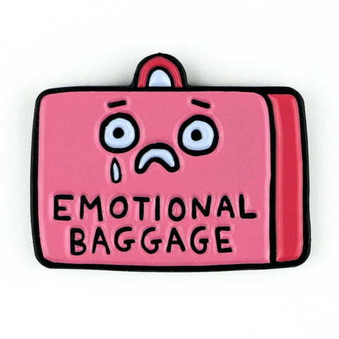 Emotional Baggage Enamel Pin