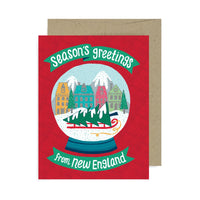 Snow Globe New England A2 Card