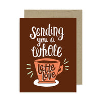 Sending Latte Love A2 Card