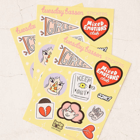 Girls Stickers by Tuesday Bassen