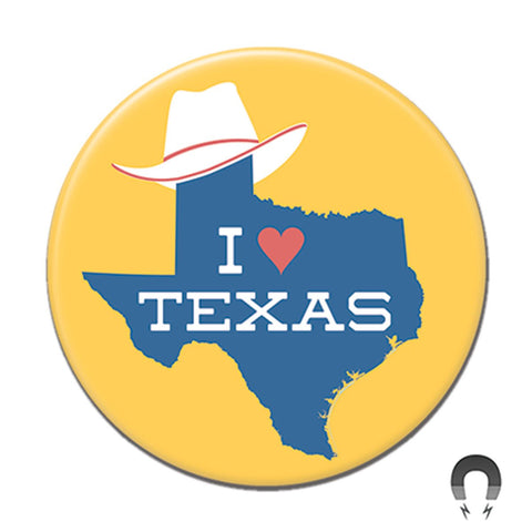 Texas Hat Yellow Big Magnet