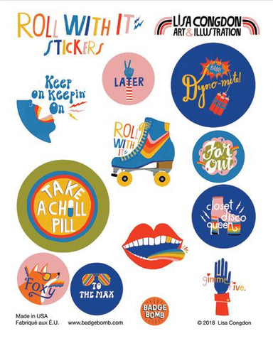 Roll With It Stickers