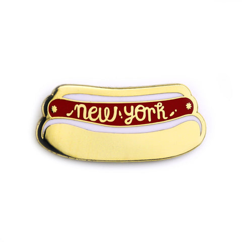 New York Hot Dog Enamel Pin