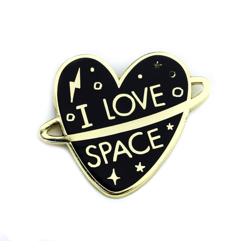 I Love Space Enamel Pin