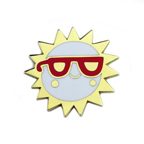 Sun Sunglasses Enamel Pin