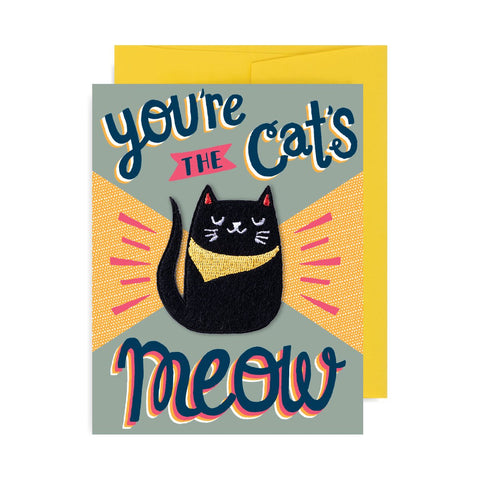 You're the Cat's Meow Patch Card