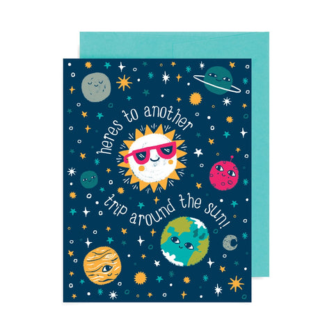 Trip Around the Sun Greeting Card