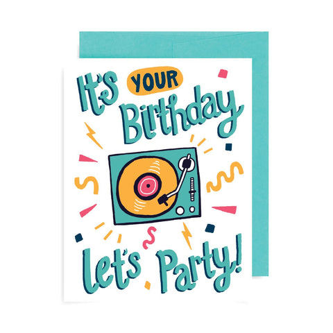 Turntable Birthday A2 Card
