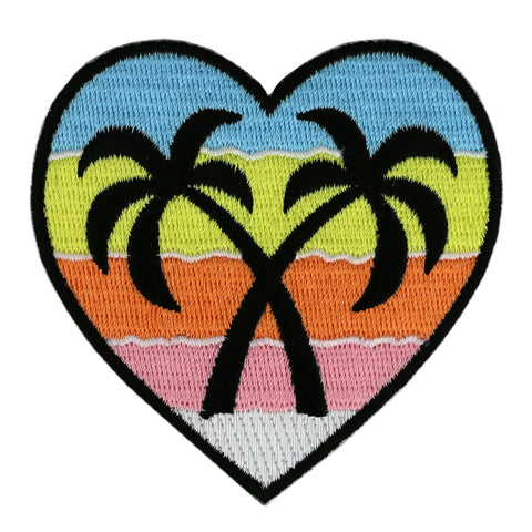 Palm Trees Heart Patch