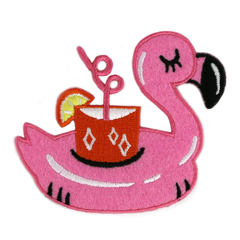 Flamingo Pool Floatie Felt Patch