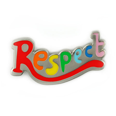 Respect Rainbow Enamel Pin