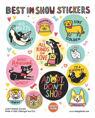 Best In Show Sticker Sheets