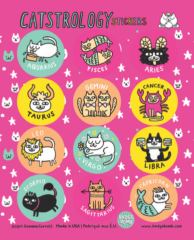 Catstrology Sticker Sheet