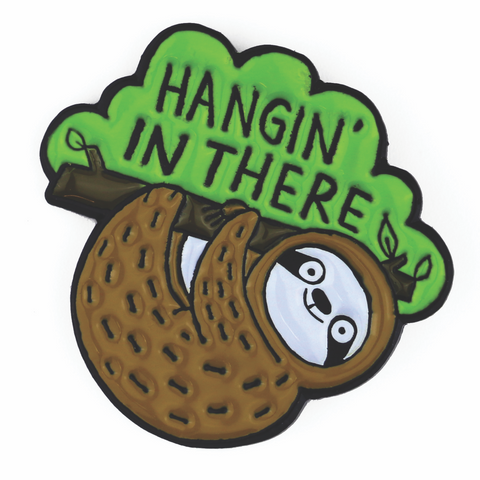 Hangin' In There Sloth Enamel Pin