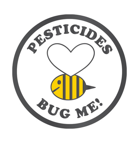 Pesticides Bug Me Bee Enamel Pin