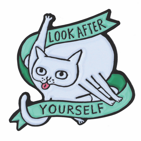 Look After Yourself Green Enamel Pin