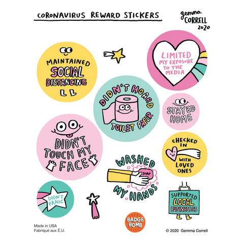Stay Home Reward Sticker Sheet!