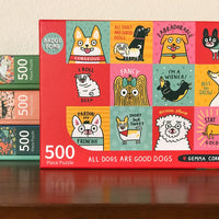 All Dogs Are Good Dogs 500-Piece Puzzle