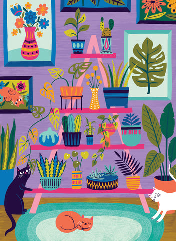 Purrfect Plants Jigsaw Puzzle