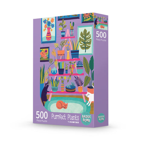 Purrfect Plants 500-Piece Puzzle