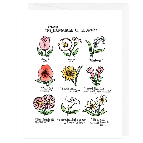Language of Flowers A2 Card