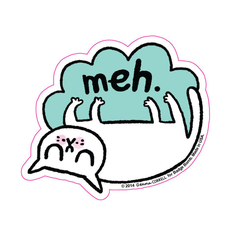 Meh Cat Big Sticker