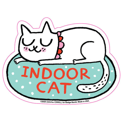 Indoor Cat Big Sticker