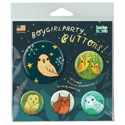 Night Owls Button Pack