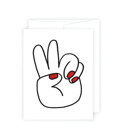 Peace Hands A2 Card
