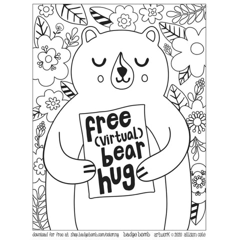 FREE Download! Bear Hug Activity Sheet by Allison Cole