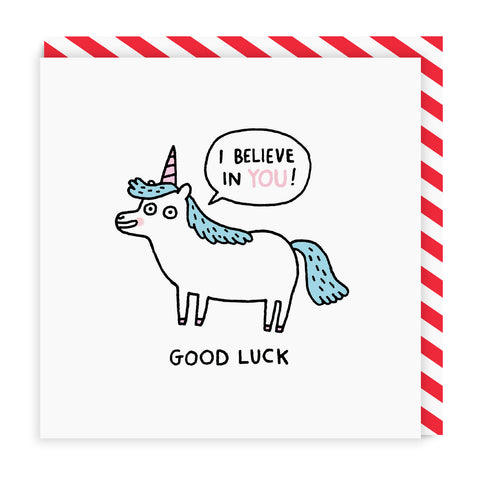 I Believe in You Unicorn Square Card