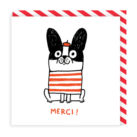 Merci Dog Square Card