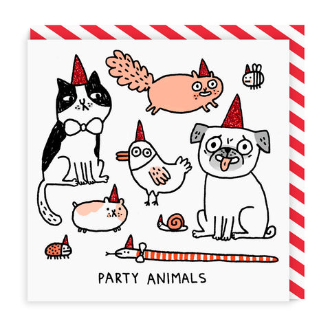 Party Animals Square Card