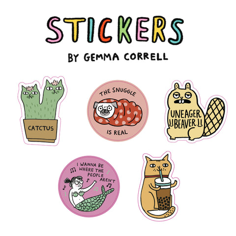 Gemma Correll Big Sticker Bundle