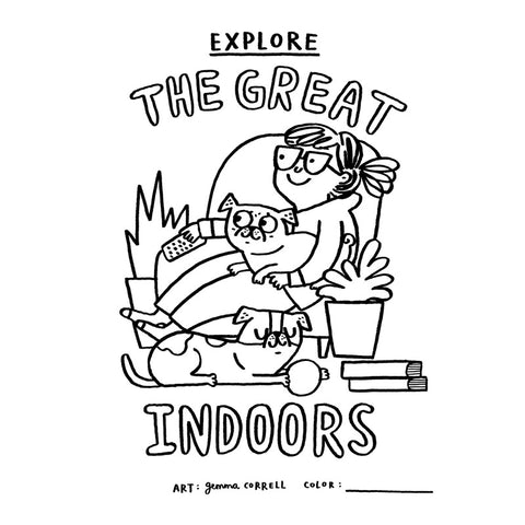 FREE Download! Explore the Great Indoors by Gemma Correll