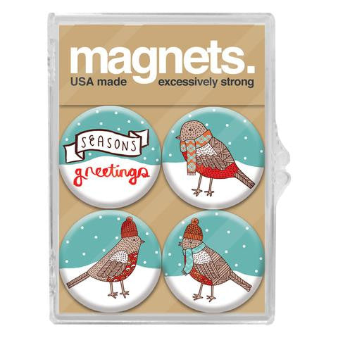 Birds In Scarves Magnet Pack