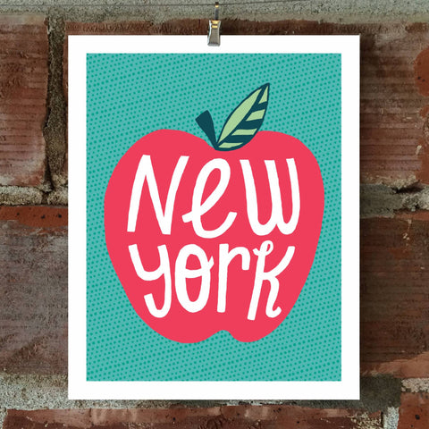 New York Apple 8 x 10 Print